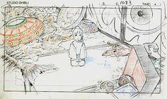 Film: Spirited Away (千と千尋の神隠し) ===== Layout Design - Scene: What Do You Want? ===== Hayao Miyazaki