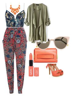 #prints by anusharao on Polyvore featuring polyvore fashion style Zimmermann Glamorous JY Shoes Chloé Fendi