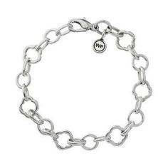 """Waxing Poetic """"Ongoing Ballad"""" Quatrefoil Bracelet, Sterling Silver And Brass"""