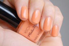 Kicks Make Up - Chilly Bellini #nailpolish Orange Nail Polish, Bellini, Pedi, Gelato, Swatch, Kicks, Lily, Make Up, Beauty