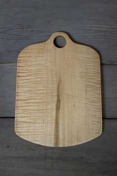 112A. Large Handmade Tiger Stripe Maple Wood Cutting Board by Lin Babb of Linwood