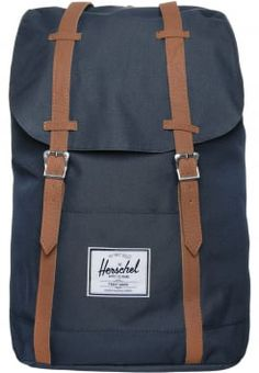 Herschel - RETREAT - Ryggsäck - navy tan Asos 26a40c0c08cd2