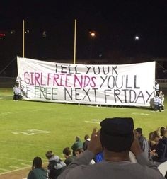 Local highschool with the best run out banner I've ever seen. Laugh your self out with various memes that we collected around the internet. School Spirit Posters, Cheer Posters, Funny Posters, Football Banner, Football Signs, Football Posters, Football Spirit, Football Cheer, Football Homecoming