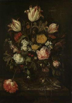 Stilleven met bloemen., Abraham Hendricksz. van Beyeren, 1650  With love, Anne - www.iannsterdam.com