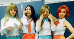 fyeahwheein:  160410 MAMAMOO Official Twitter Update @ SBS Inkigayo↳ Today's outfits were designed by MooMoo!
