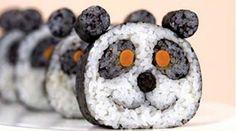 panda nori rolls - fun food art