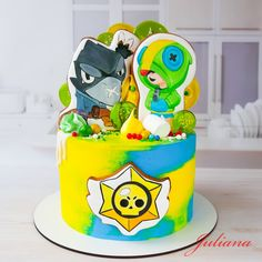 Birthday Party Decorations, Birthday Parties, Cat Hug, Star Cakes, Cakes For Boys, Toy Chest, Cool Art, Birthday Cake, Sweets