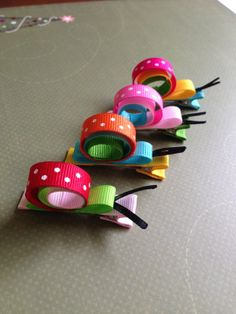A set of 4 hand sculpted colorful snail hair by CherieBoutiqueA, $12.00
