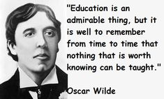 Education quote.  You don't always need a teacher to learn something.