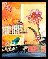 """Opening Hymn"" by collage artist Suzi Dennis"