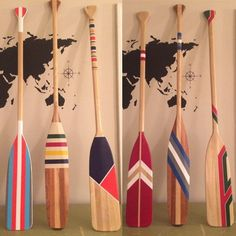 Custom painted paddle. Made to order. Prices vary from $100-$200 depending on number of colours and design. I will replicate anything you have seen on the internet, but for a much more affordable price! The paddles are painted on one side and make great statement pieces in your home, cottage, or shop. #canoediy