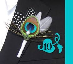 Image result for black and white peacock wedding ideas
