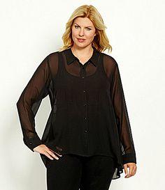 Eileen Fisher Woman Silk Hilow Shirt #Dillards
