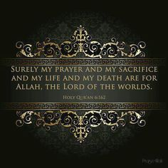 Life is for Allah, the God.