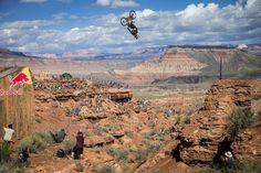 Kelly McGarry rides at finals during Red Bull Rampage in Virgin Utah USA on 29 September 2014.: