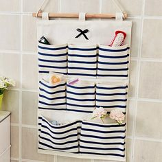 Sundry Cotton Wall Hanging Organizer Bag Multi-layer Holder Storage Bag Home Decoration Makeup Rack Linen Jewelry 5 Aad 8 Pocket - Online Shopping Destination with High-Quality Hanging Makeup Organizer, Wall Hanging Storage, Diy Hanging, Fabric Organizer, Container Organization, Wall Organization, Organizing Bags, Storage Containers, Pocket Organizer