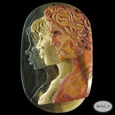 Carved XLarge Three Men Pendant Bead AD618002   eBay
