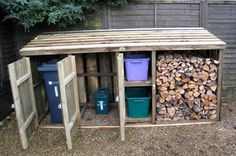 Shed Plans - Shed Plans - Image from www. - Now You Can Build ANY Shed In A Weekend Even If Youve Zero Woodworking Experience! - Now You Can Build ANY Shed In A Weekend Even If You've Zero Woodworking Experience! Wood Shed Plans, Storage Shed Plans, Diy Storage, Garage Plans, Recycling Storage, Storage Bins, Clever Storage Ideas, Outside Storage Shed, Porch Storage
