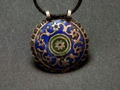 Silver and enamel pendant