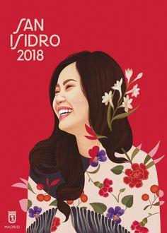 La campaña para las fiestas de San Isidro 2018 ha enamorado a los madrileños con sus mujeres ilustradas - La Criatura Creativa