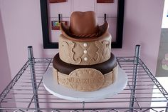 Cowboy-Themed-Birthday-Cake
