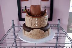 Cowboy-Themed-Birthday-Cake