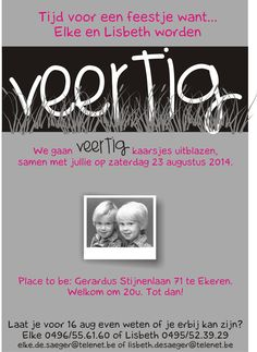 uitnodiging feestje 40 jaar Uitnodiging feestje 60 jaar | Feest | Pinterest uitnodiging feestje 40 jaar