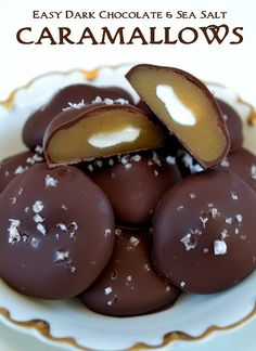 Easy Chocolate Dipped Caramallows. The caramel is so melt-in-your-mouth PERFECT! (and it's easy to make).