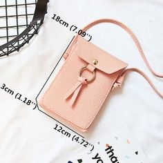 Women Multi-function Solid Ring Phone Bag Shoulder Bag Square Bag Purse is designer, see other cute bags on NewChic. Leather Wallet, Leather Bag, Mini Crossbody Bag, Pocket Wallet, Cute Bags, Casual Bags, Latest Fashion Trends, Iphone 7, Coin Purse