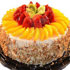 Cupcake Recipes, Cupcake Cakes, Fresh Fruit Cake, Fruit Cakes, Fruit Flan, Flan Cake, Gorgeous Cakes, Cake Toppings, Buttercream Cake