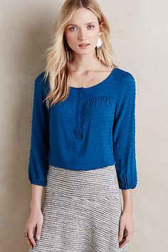 For my boobs to have a prayer AND for the blouse to still tuck into a skirt, I think it's going to have to have some kind of extra seaming, maybe like this? Scallop Edge Top #anthropologie
