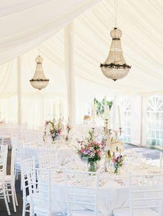 Elegant Tented Wedding Reception -- See more on http://www.StyleMePretty.com/2014/04/08/romantic-french-chateau-wedding/ Erich McVey Photography - erichmcvey.com