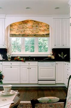 dark floors white cabinets
