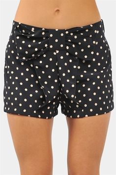 Navy Polka Dot Bow Shorts <3
