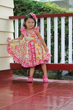 Kumari Garden Twirl Dress by maninisunshine on Etsy, $49.00. My child WILL be wearing this for her first birthday!