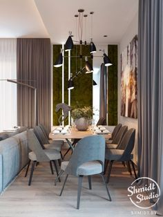 Contemporary Designs Bring Light to Living Room in Minsk | http://www.contemporarylighting.eu #interiordesign #lightingdesign