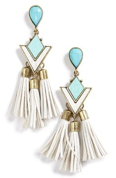 Free shipping and returns on BaubleBar 'Jem' Drop Earrings at Nordstrom.com. Mod style meets contemporary design with this pair of mint-green drop earrings covered in sparkling crystals.