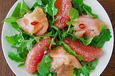 Rucolasalat mit Pink Grapefruit und Räucherlachs (Rezept mit Bild) | Chefkoch.de