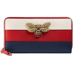 Gucci Queen Margaret leather zip around wallet (16,730 MXN) ❤ liked on Polyvore featuring bags, wallets, red, genuine leather wallet, red wallet, 12 card wallet, blocking wallet and red zip around wallet