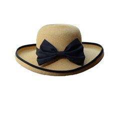 Girls Fashion Ribbon Roll-up Trim Cap Black Bowknot Summer Sun Beach Straw Hat in Clothes, Shoes & Accessories, Women's Accessories, Hats | eBay