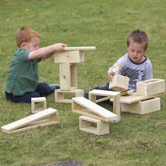 Giant Outdoor Hollow Blocks. Build, design and create your amazing structures with these beautifully made outdoor wooden blocks. These sets of hollow wooden blocks are made from pressure treated timber to enable endless outdoor fun - plus you don't need to worry about them getting wet as they are made for all weathers! Perfect for large scale outdoor construction and endless open-ended role play scenarios. Each set includes a variety of shapes to select and stack, including cuboids, oblo...