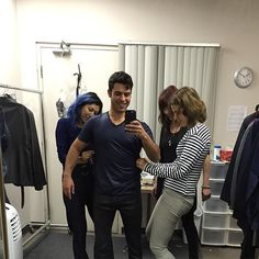 """David Castro: """"Getting fitted one last time. Shadowhunters Tv Series, Shadowhunters The Mortal Instruments, Family Tv Series, Abc Family, The Dark Artifices, The Infernal Devices, Malec, Shadow Hunters, Cassandra Clare"""