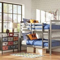 Elise Youth Bunk Bed, Gray - Walmart.com