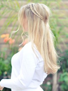 Pretty braids, combine with loose waves.