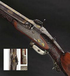 A heavy delus percussion target rifle, 1840.
