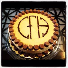 "Chocolate peanut butter cake with Pantera's ""Cowboys From Hell"" logo."