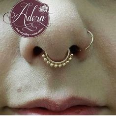 This septum was originally pierced by @aidenmustdie from @adorn_piercings and then the lovely @bunzchelsea had the chance to upgrade to a gorgeous rose gold vaughn seam ring from @anatometalinc #ukapp #safepiercinguk #professionalpiercing #ukpiercer...