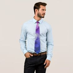Pink purple blue bokeh Fashion tie - fathers day best dad diy gift idea cyo personalize father family