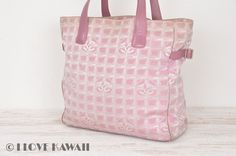 CHANEL Pink New Travel Line Tote GM Bag A15825