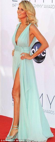 Heidi Klum - Emmy's  - Sea Green Dreamy Gown